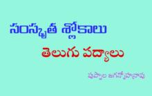సంస్కృత శ్లోకాలు - తెలుగు పద్యాలు 14